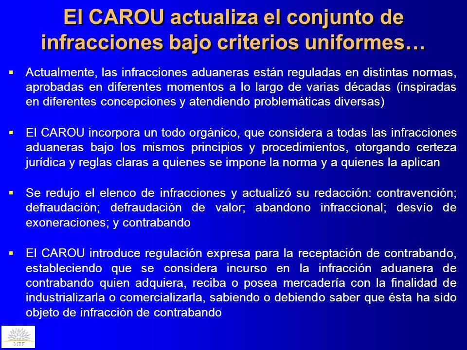 El CAROU actualiza el conjunto de infracciones bajo criterios uniformes…