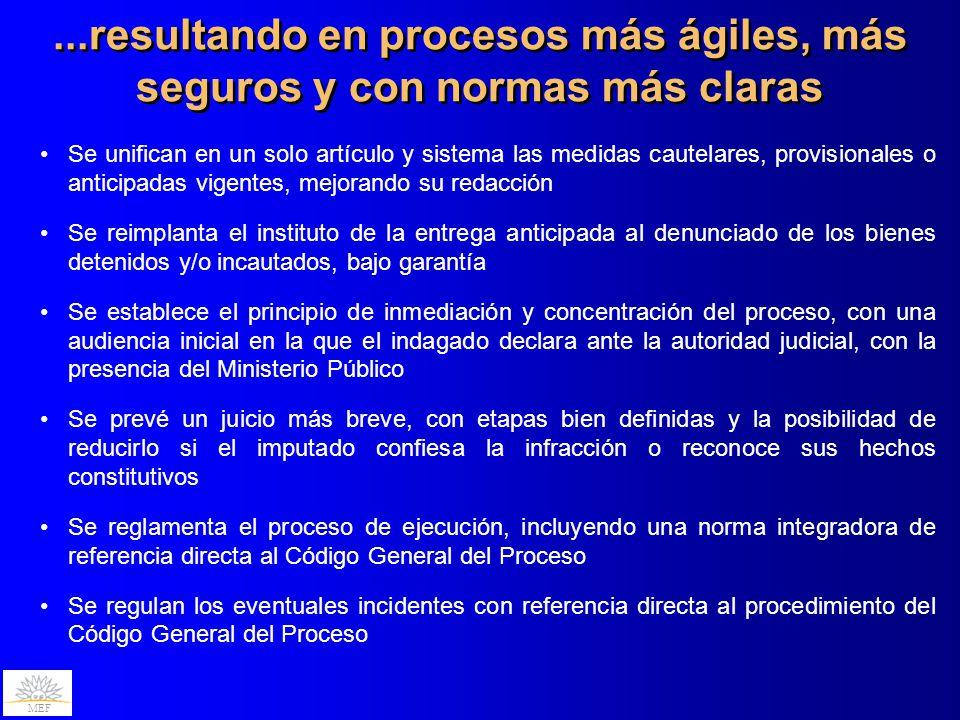 ...resultando en procesos más ágiles, más seguros y con normas más claras
