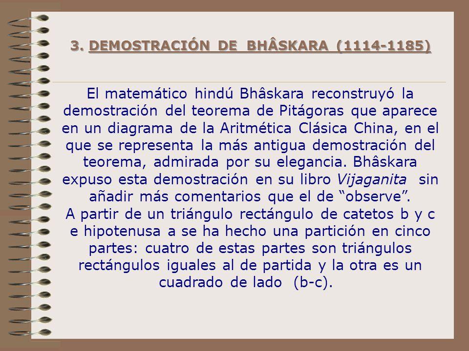 3. DEMOSTRACIÓN DE BHÂSKARA (1114-1185)
