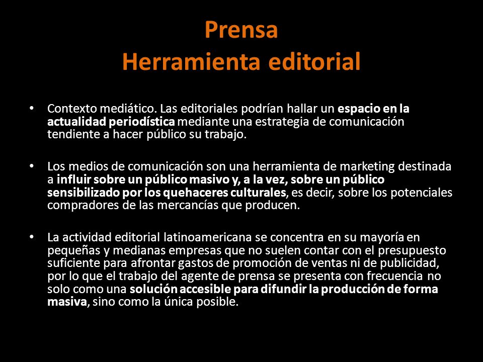 Prensa Herramienta editorial