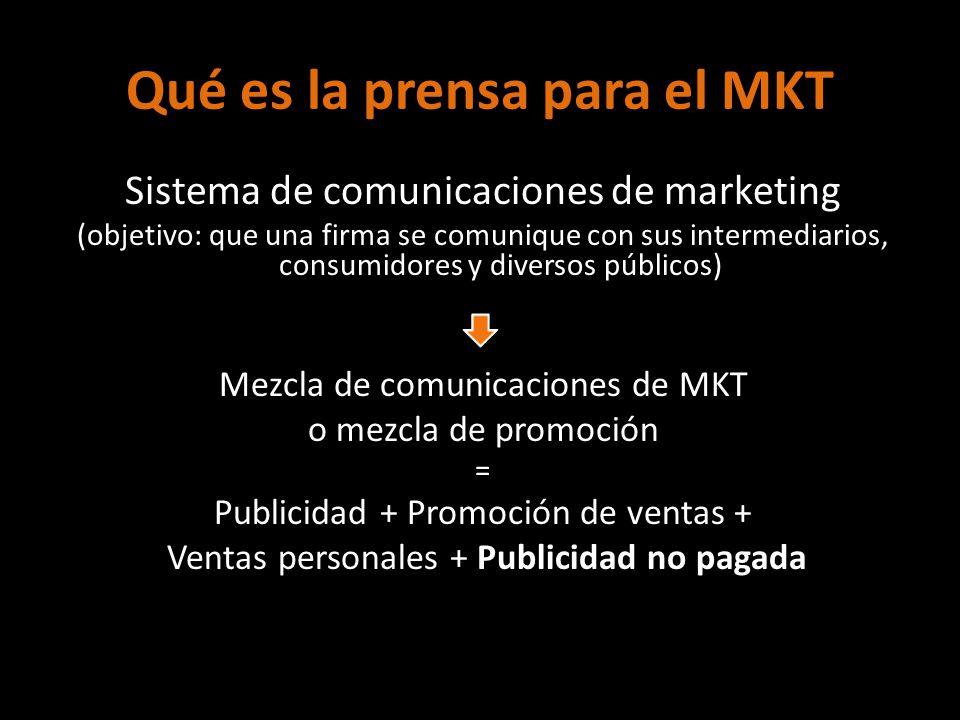 Qué es la prensa para el MKT