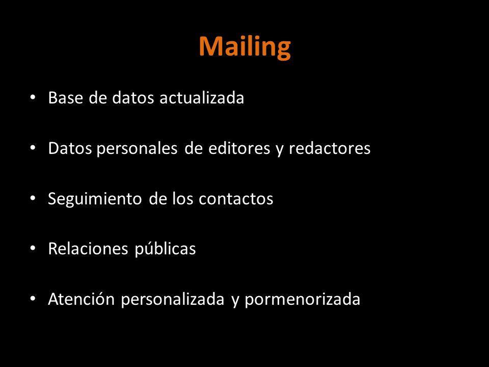 Mailing Base de datos actualizada