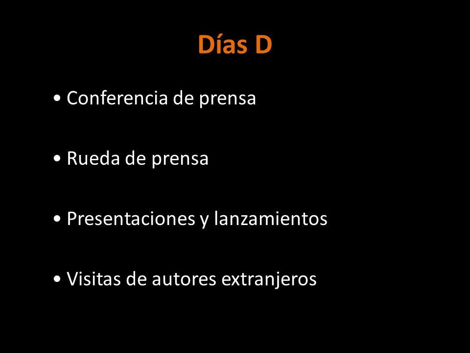 Días D Conferencia de prensa Rueda de prensa