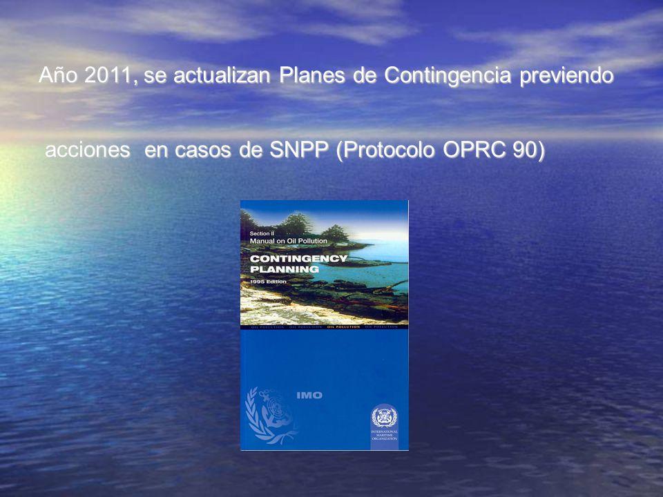 Año 2011, se actualizan Planes de Contingencia previendo