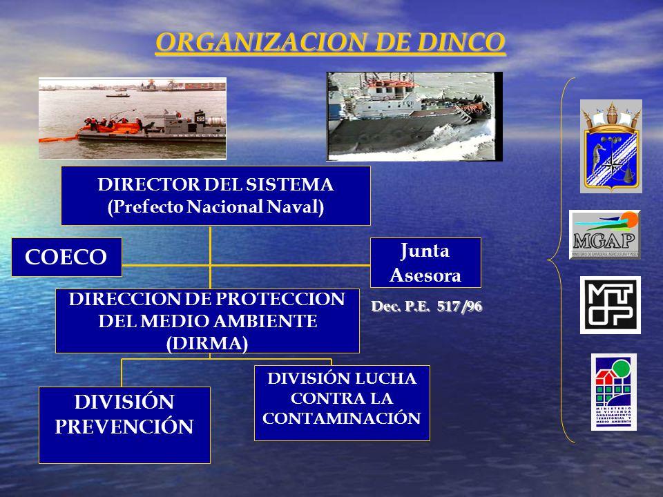 ORGANIZACION DE DINCO COECO Junta Asesora DIVISIÓN PREVENCIÓN