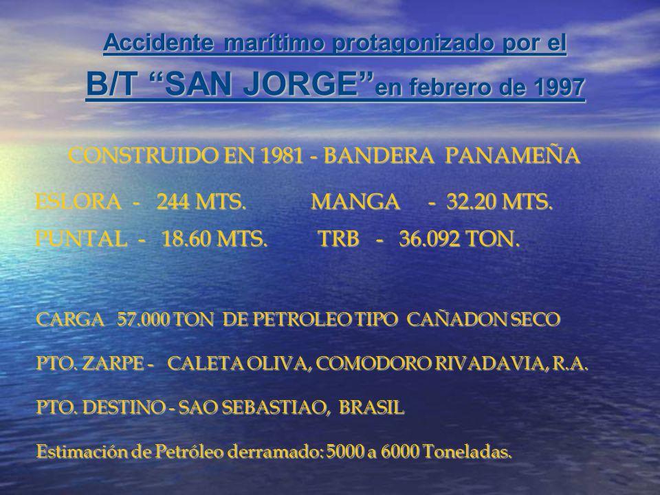 B/T SAN JORGE en febrero de 1997