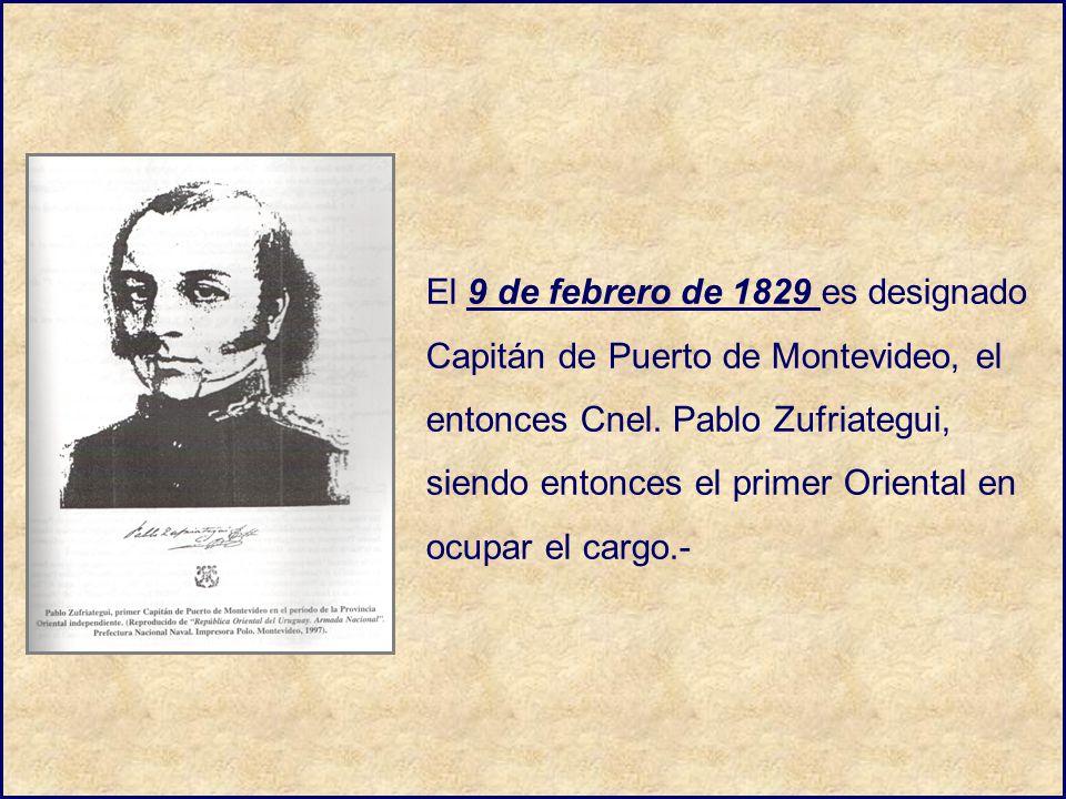 El 9 de febrero de 1829 es designado