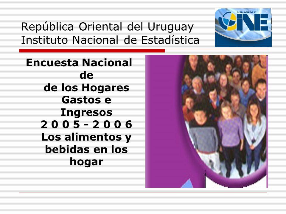 República Oriental del Uruguay Instituto Nacional de Estadística