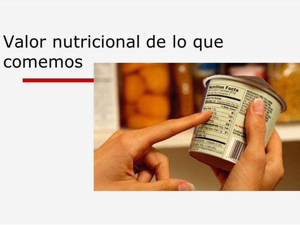 Valor nutricional de lo que comemos