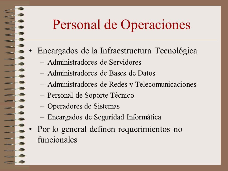 Personal de Operaciones