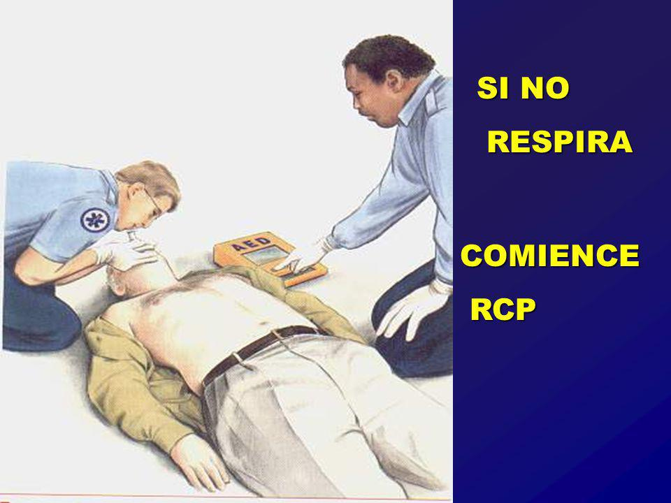 SI NO RESPIRA COMIENCE RCP