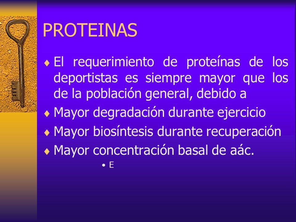 PROTEINAS El requerimiento de proteínas de los deportistas es siempre mayor que los de la población general, debido a.