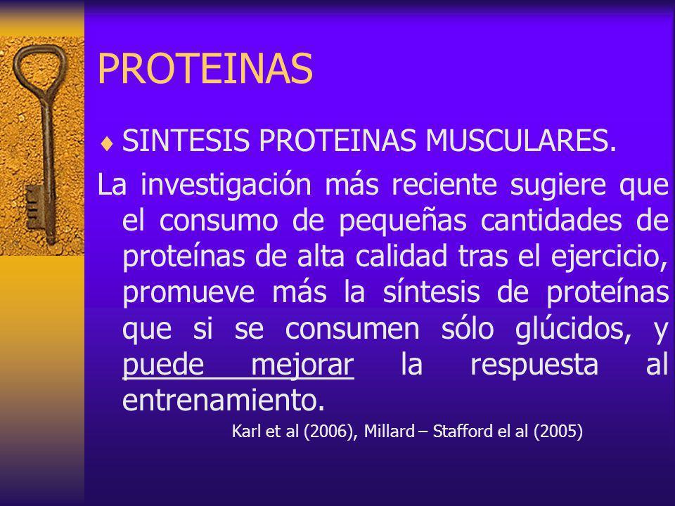 PROTEINAS SINTESIS PROTEINAS MUSCULARES.