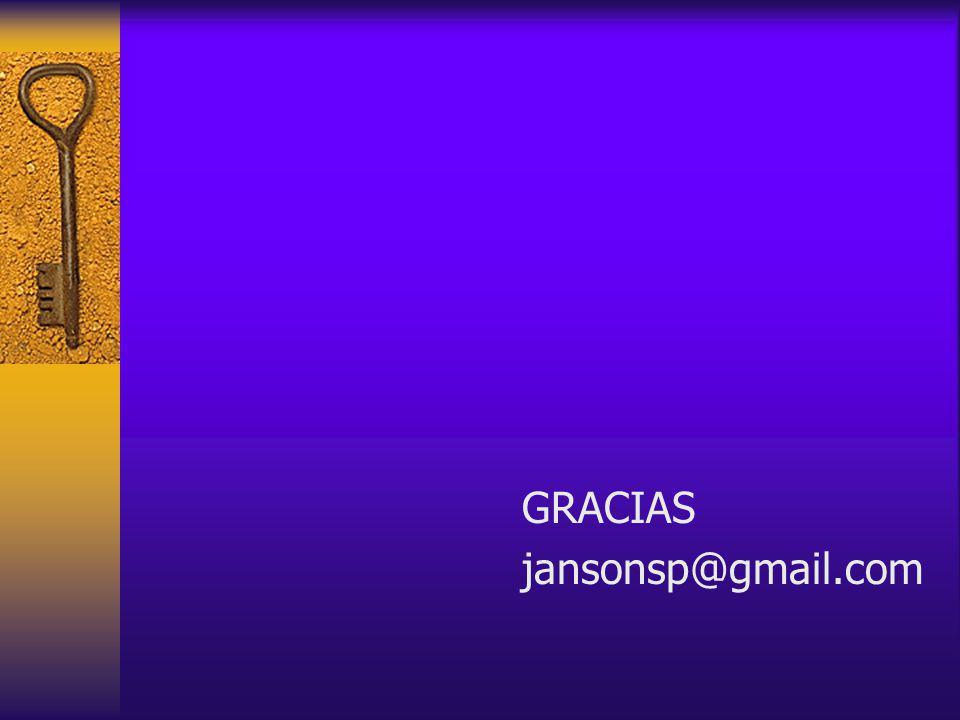 GRACIAS jansonsp@gmail.com
