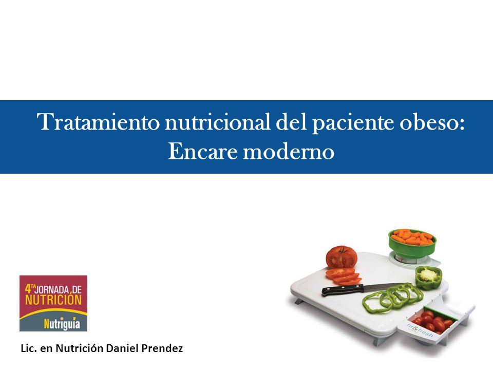 Tratamiento nutricional del paciente obeso: