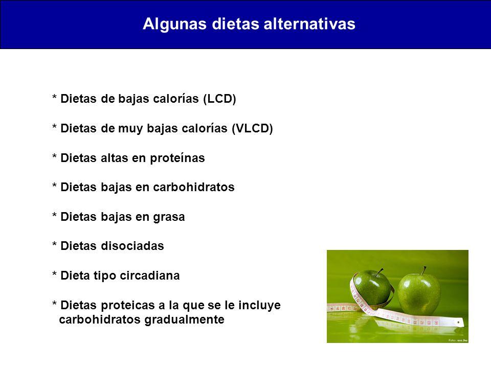 Algunas dietas alternativas
