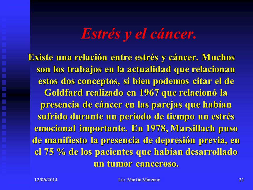 Estrés y el cáncer.