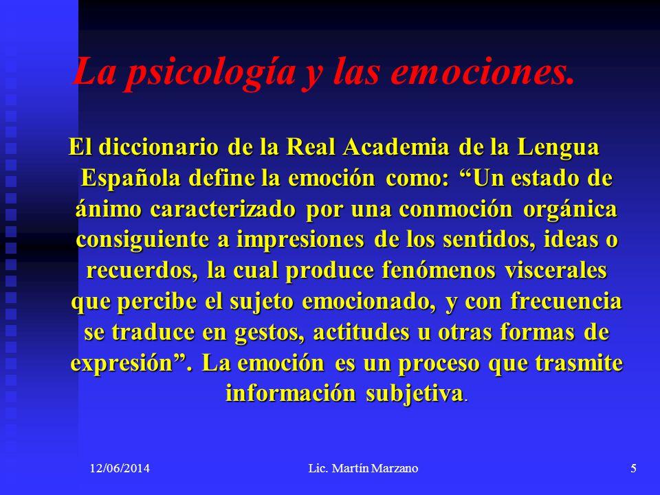 La psicología y las emociones.