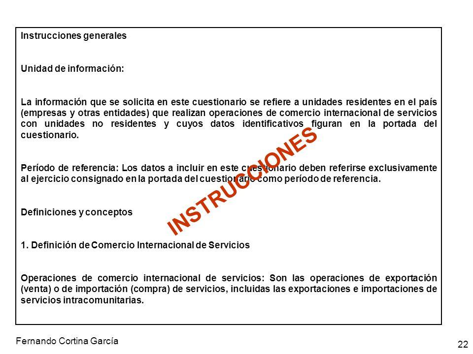 INSTRUCCIONES Instrucciones generales Unidad de información: