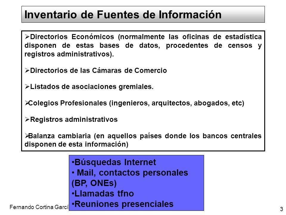 Inventario de Fuentes de Información