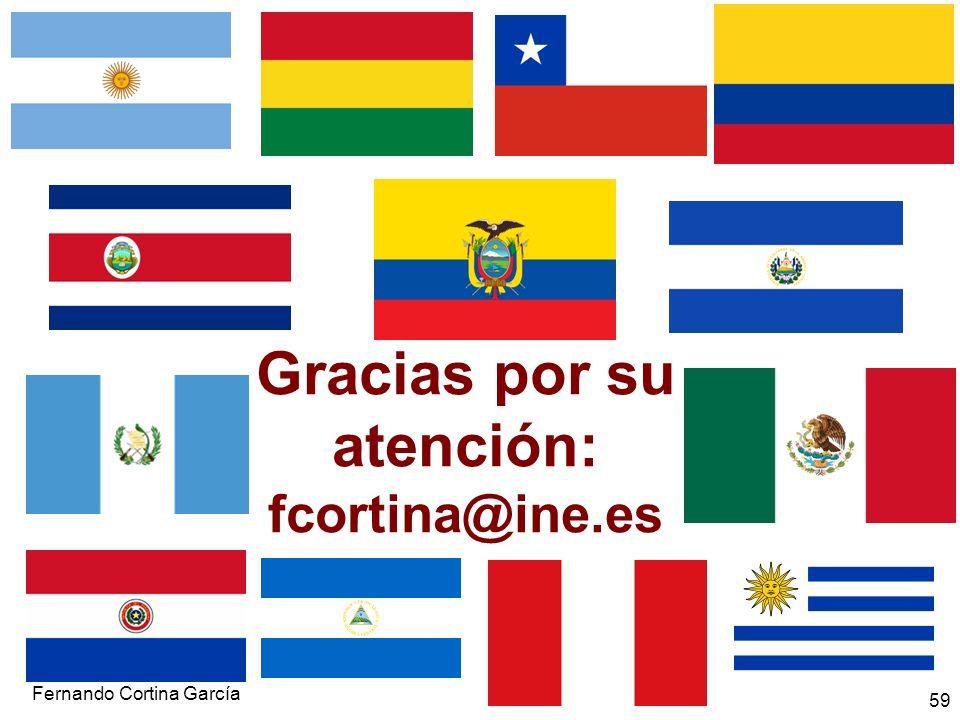 Gracias por su atención: fcortina@ine.es