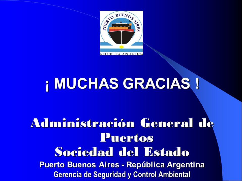 ¡ MUCHAS GRACIAS ! Administración General de Puertos