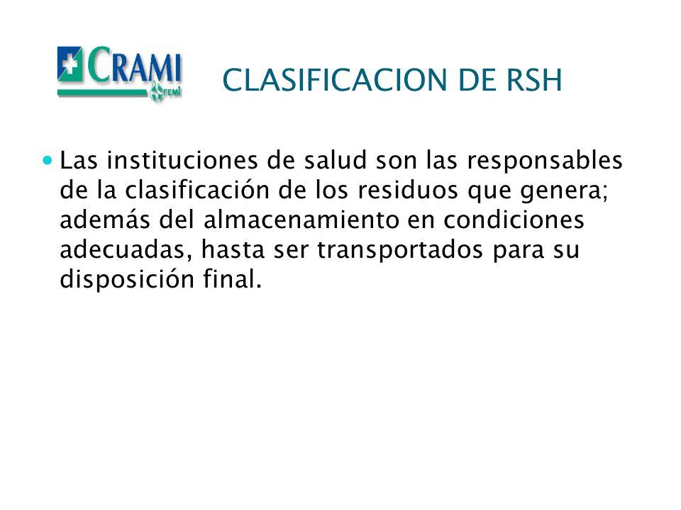 CLASIFICACION DE RSH