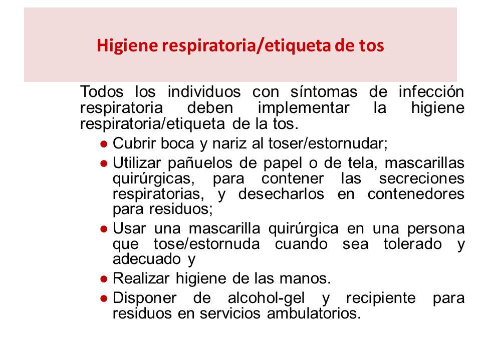 Higiene respiratoria/etiqueta de tos