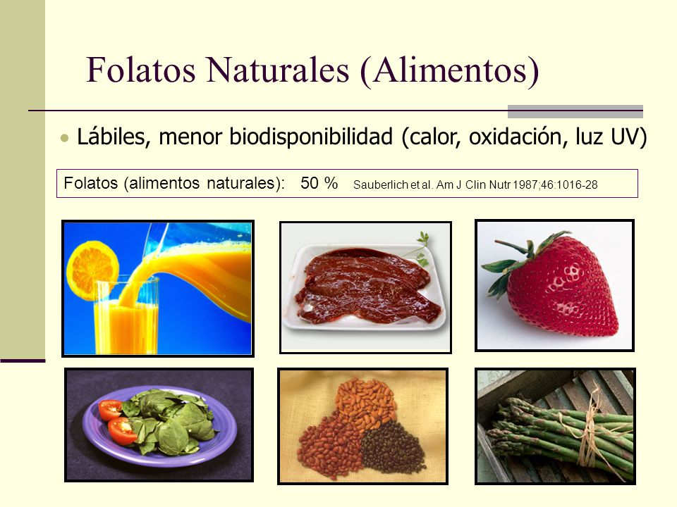 Folatos Naturales (Alimentos)