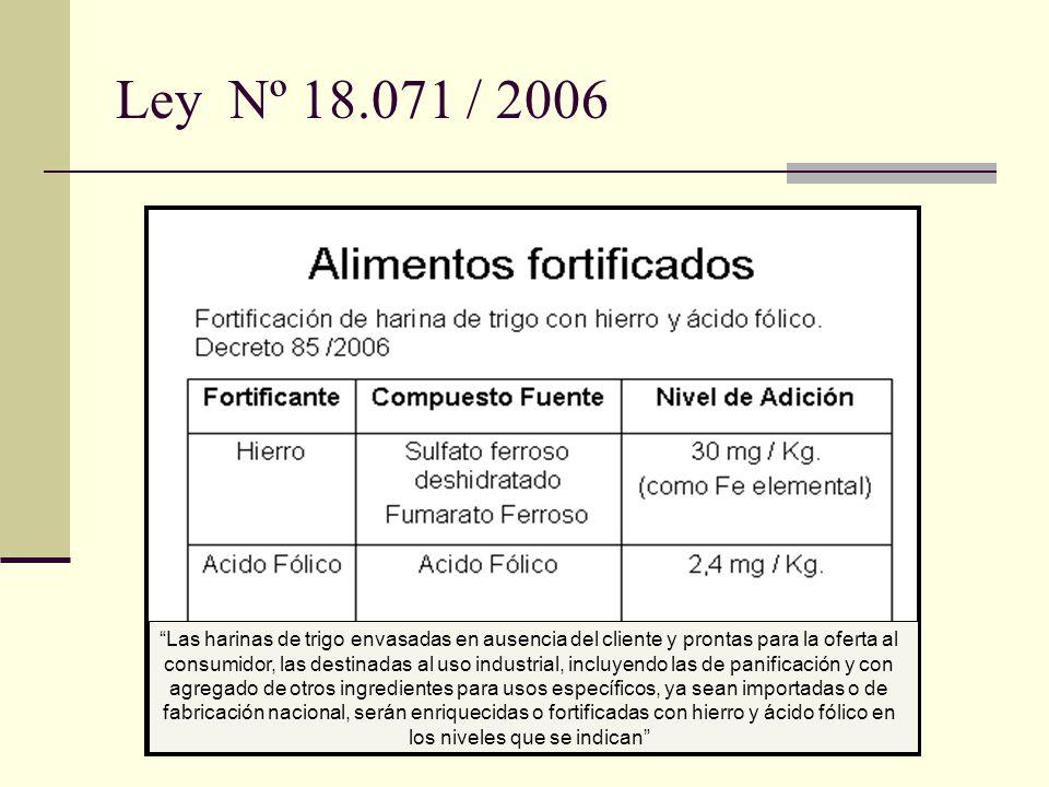 Ley Nº 18.071 / 2006