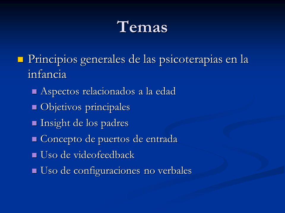 Temas Principios generales de las psicoterapias en la infancia