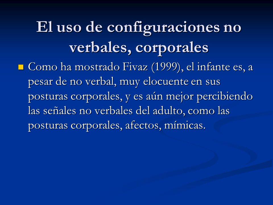 El uso de configuraciones no verbales, corporales