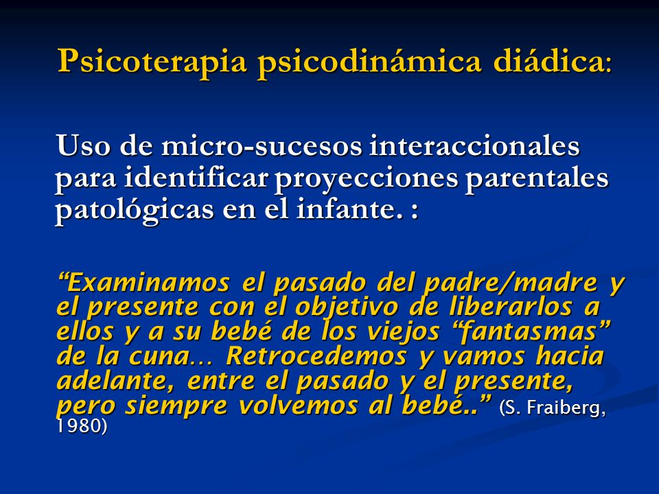 Psicoterapia psicodinámica diádica: