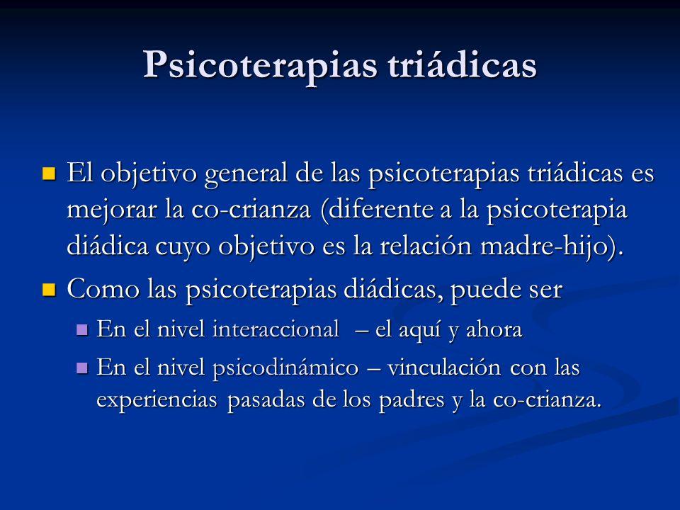 Psicoterapias triádicas
