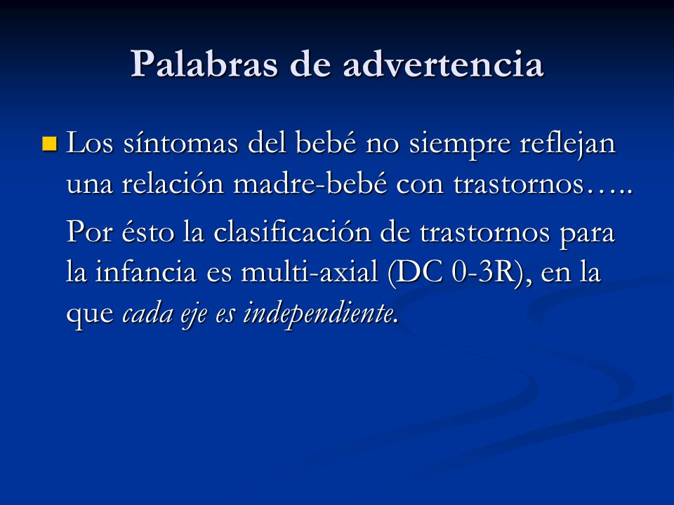 Palabras de advertencia