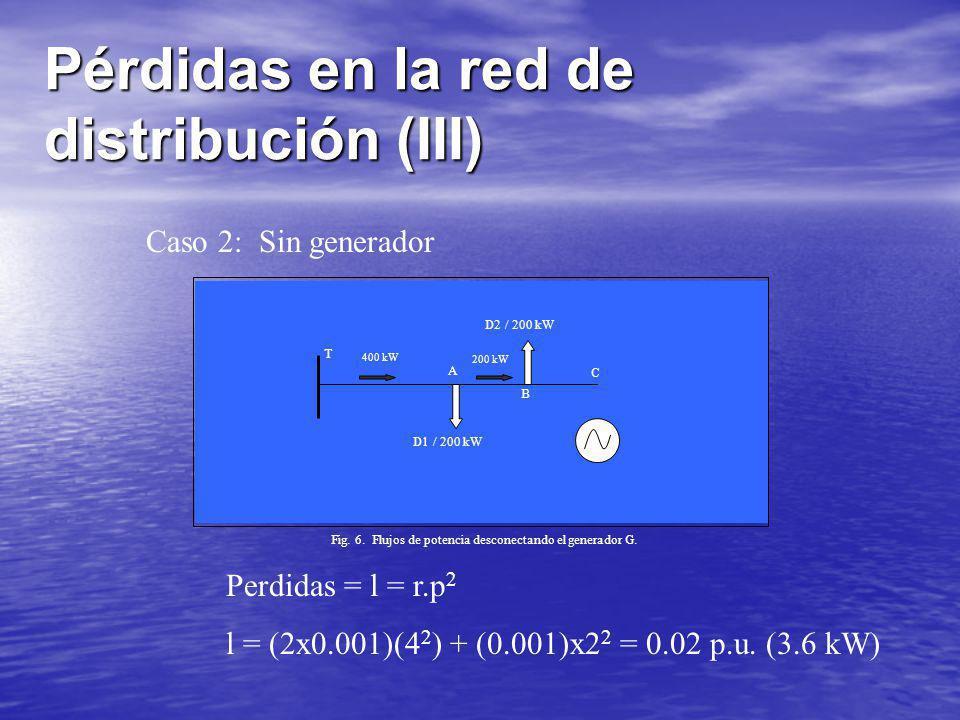 Pérdidas en la red de distribución (III)