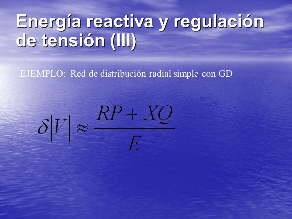 Energía reactiva y regulación de tensión (III)