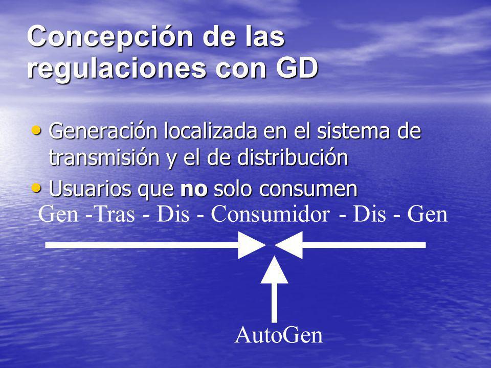 Concepción de las regulaciones con GD