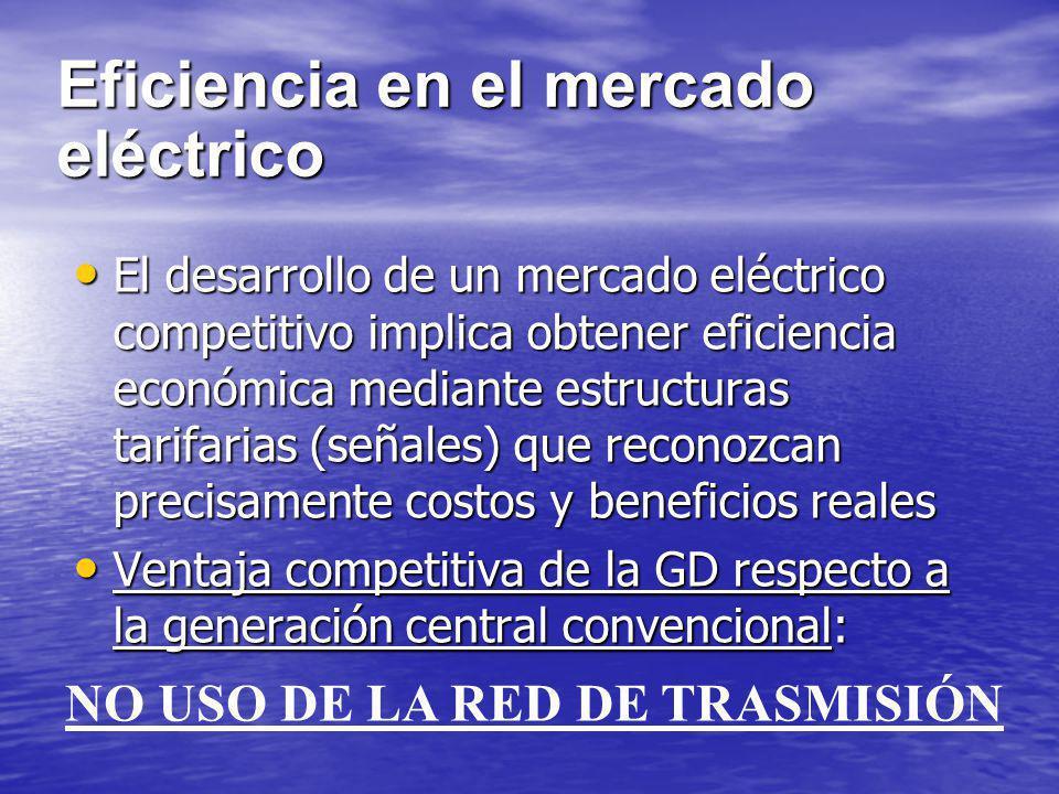 Eficiencia en el mercado eléctrico