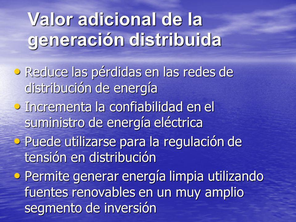 Valor adicional de la generación distribuida