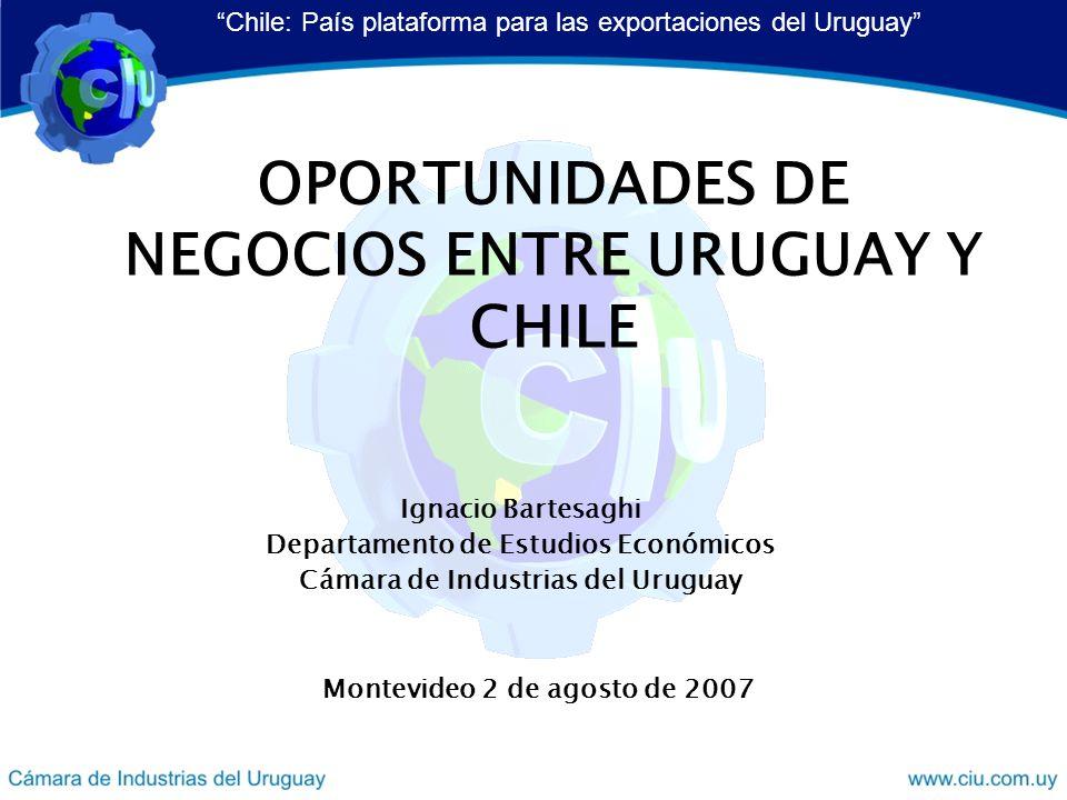 OPORTUNIDADES DE NEGOCIOS ENTRE URUGUAY Y CHILE