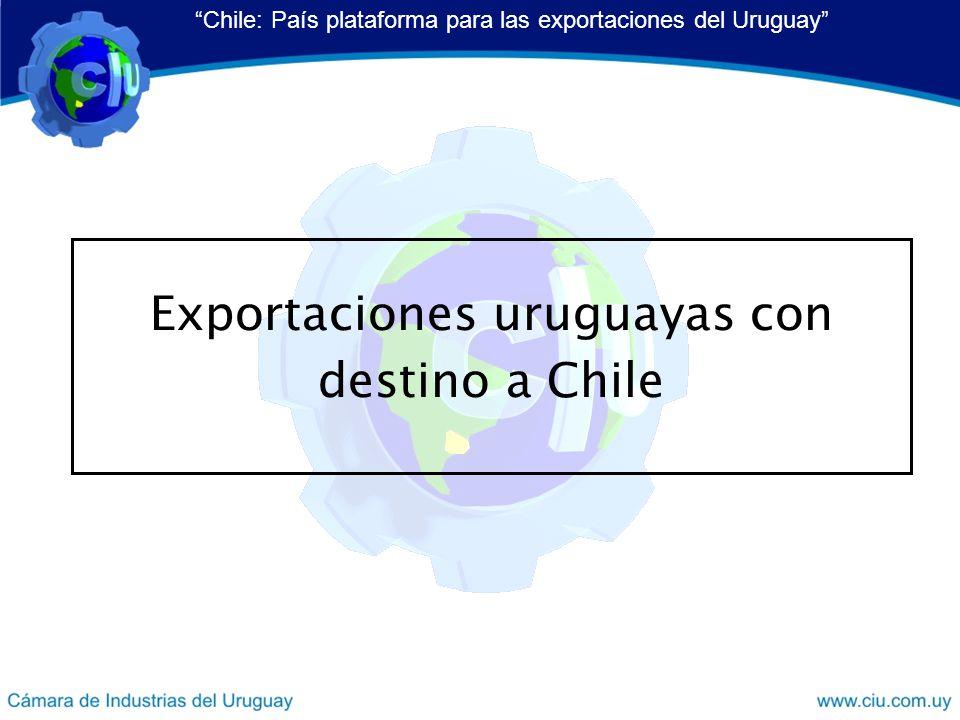 Exportaciones uruguayas con destino a Chile