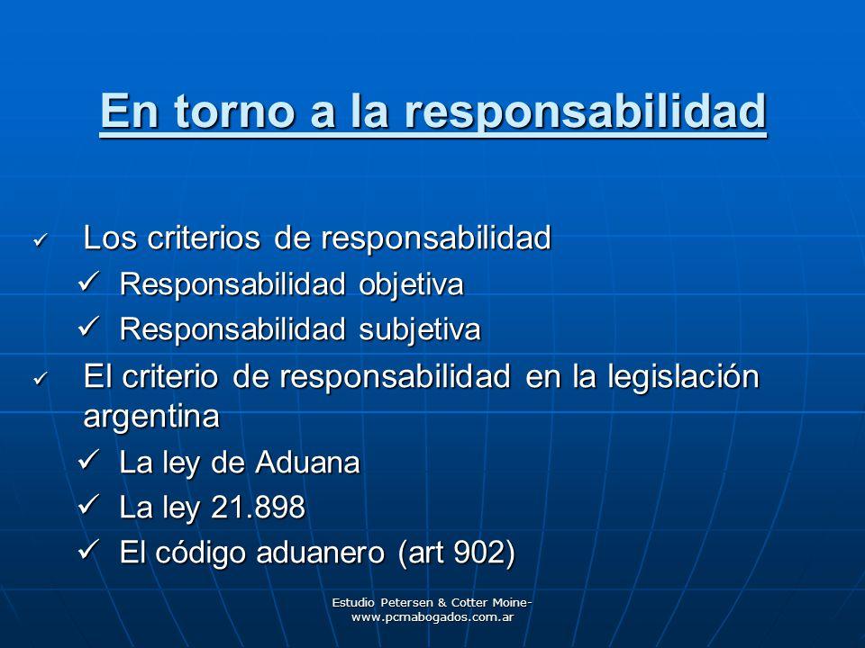 En torno a la responsabilidad