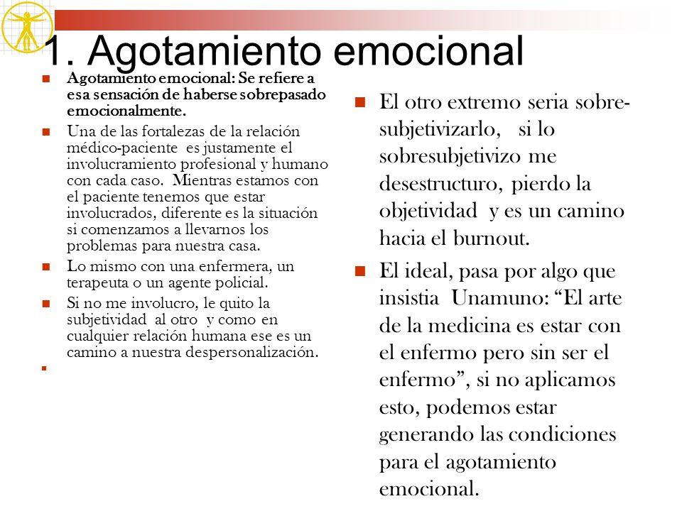 1. Agotamiento emocional
