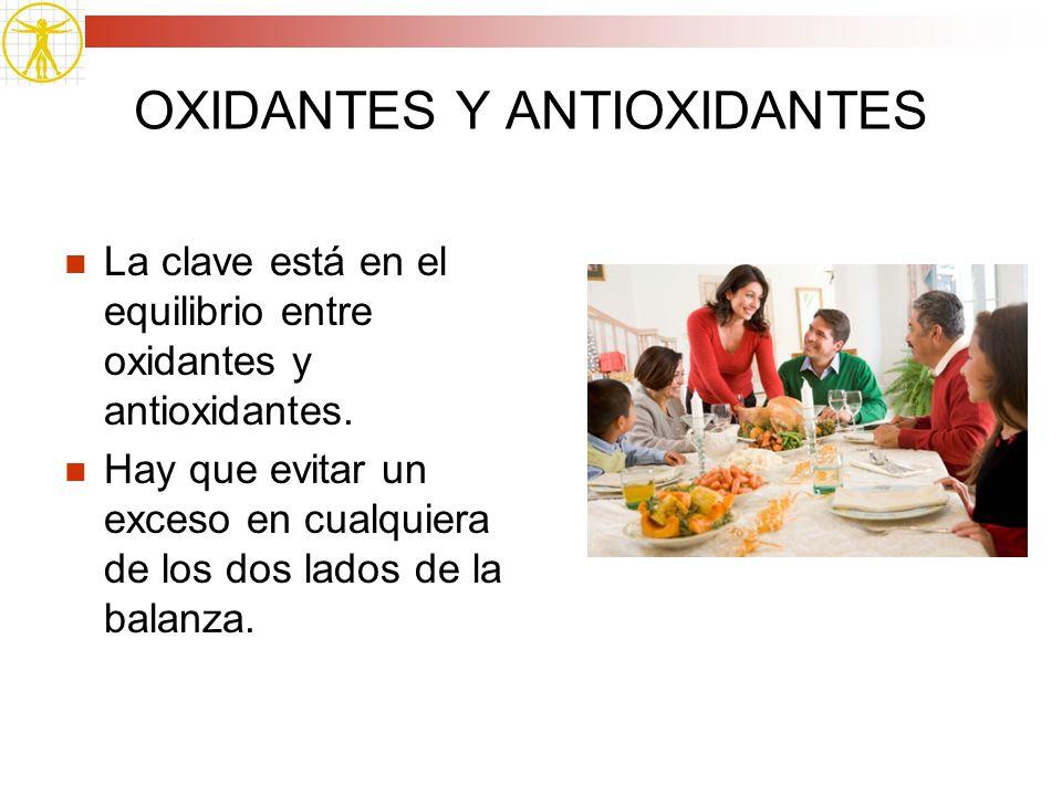 OXIDANTES Y ANTIOXIDANTES