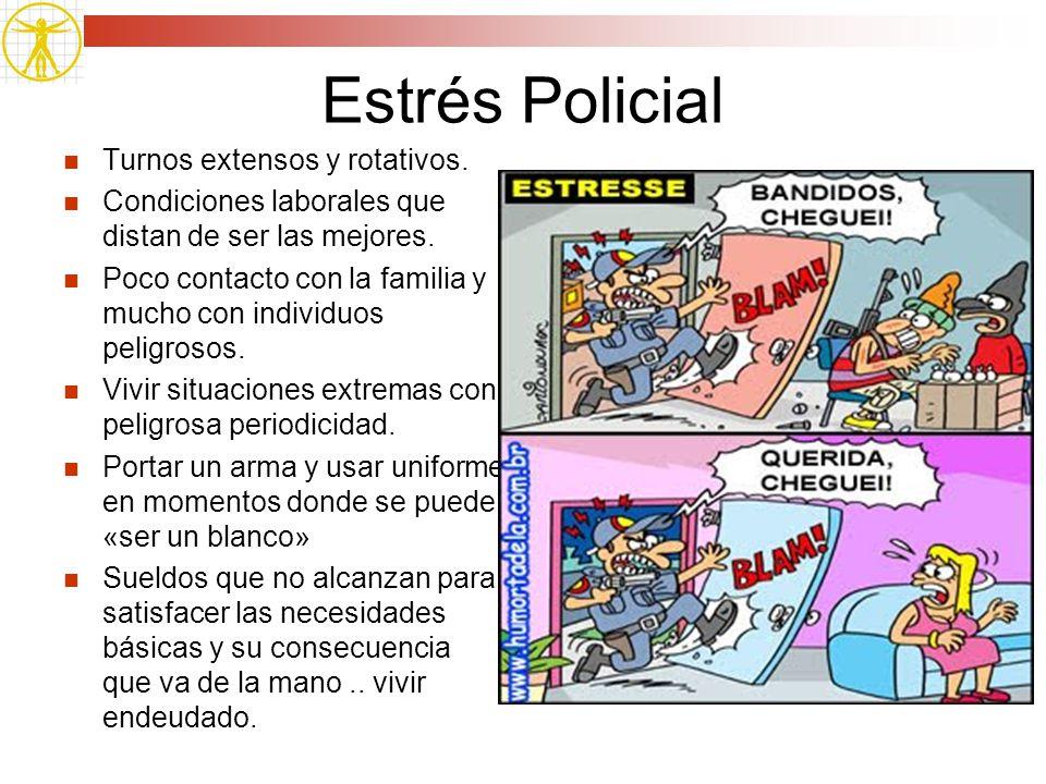 Estrés Policial Turnos extensos y rotativos.