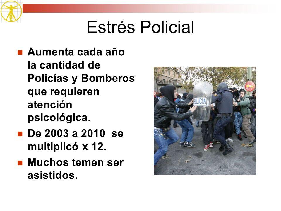 Estrés Policial Aumenta cada año la cantidad de Policías y Bomberos que requieren atención psicológica.