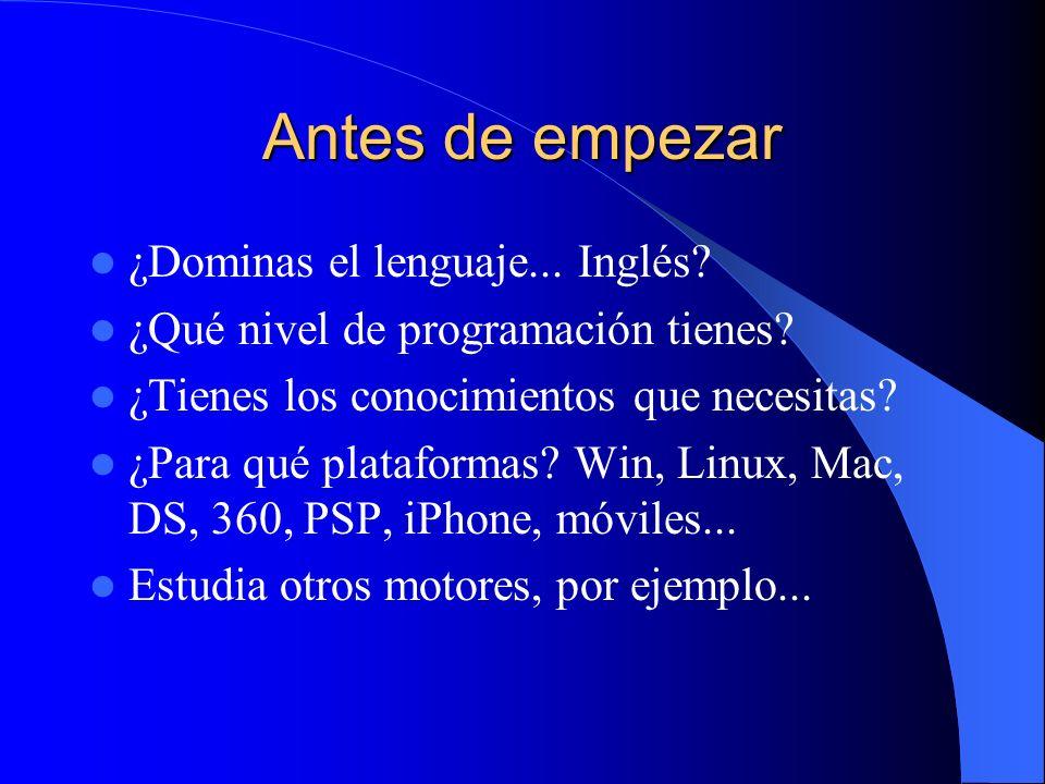 Antes de empezar ¿Dominas el lenguaje... Inglés