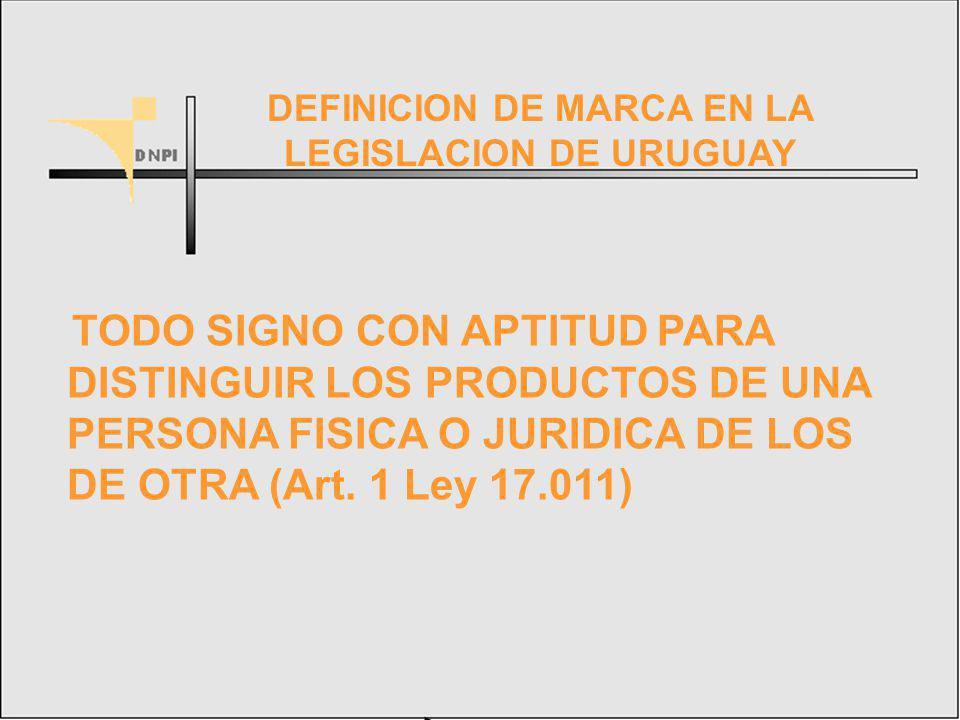 DEFINICION DE MARCA EN LA LEGISLACION DE URUGUAY