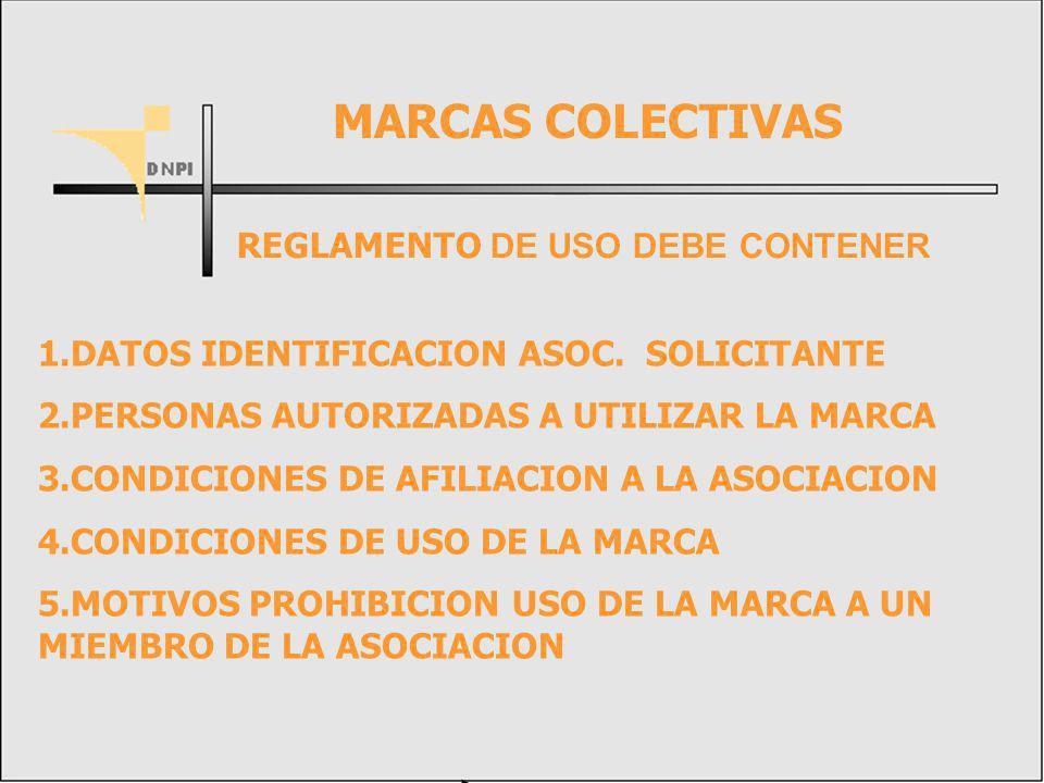 MARCAS COLECTIVAS REGLAMENTO DE USO DEBE CONTENER